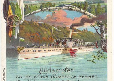 Sächs.-Böhmische Dampfschiffahrt 1900 (hist. Postkarte)